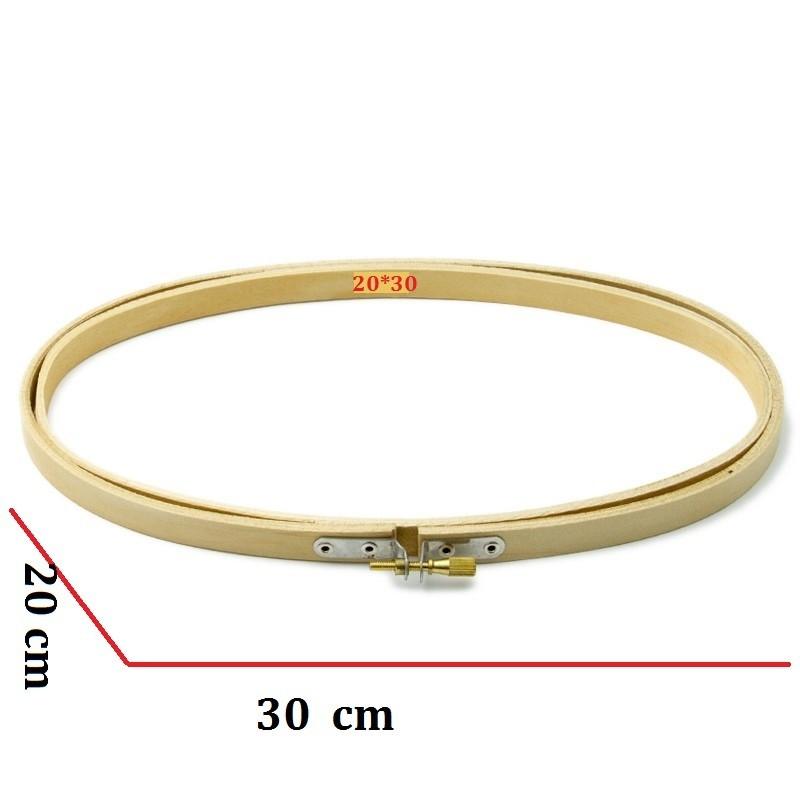 bastidor ovalado mediano de 20 por 30 cm