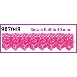 Puntilla de Bolillo de Algodon de Colores (40mm)  Pieza 25 m