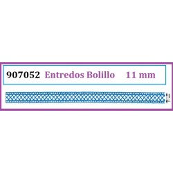 Entredos de Bolillo de Algodon de Colores (11 mm)  Pieza 25 m