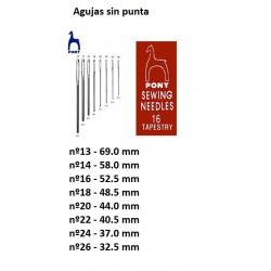 Aguja Lanera Sin Punta (sobres 25 agujas) Formato Ahorro