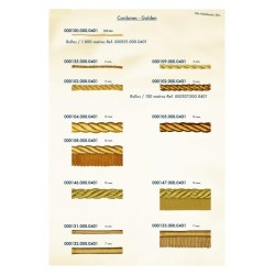 Cordón dorado-plateado