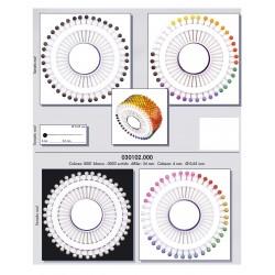 Alfileres de colores en Disco de 40 alfileres