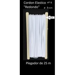 Goma redonda elástica de 3mm