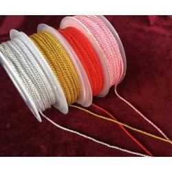 Cordon de seda trenzado 2,5 m/m