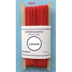 Goma redonda  1,8 mm color rojo