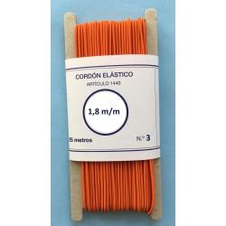 Cordón elástico redondo de 1,8 mm color Naranja