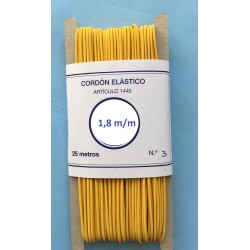 Cordón elástico de 1,8 mm color Amarillo