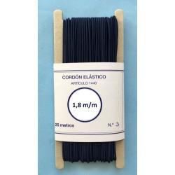 Cordón elástico redondo de 1,8 m/m color marino