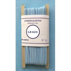 Cordón elástico redondo de 1,8 m/m color celeste